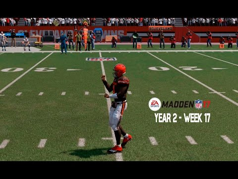 WATSON GOES OFF Madden 17 Franchise Detroit Lions Y2 W17 Browns