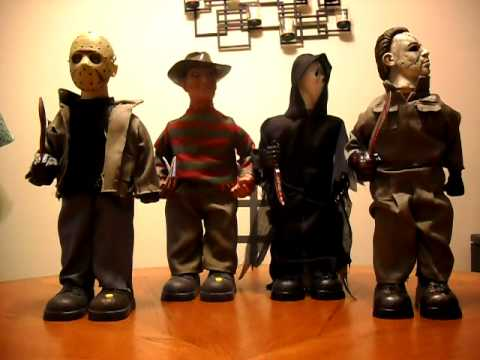 Gemmy animated Jason Voorhees Freddy Krueger Ghostface Michael Myers