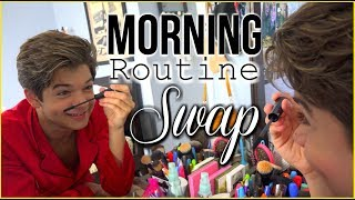 Morning Routine SWAP | Brother VS. Sister