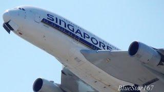 Singapore Airlines Airbus A380-800 (9V-SKG) takeoff from KIX/RJBB (Osaka - Kansai) RWY 06R