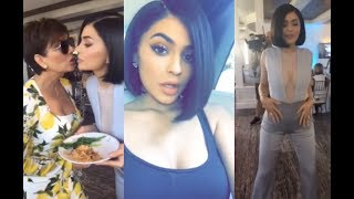 Kylie Jenner Sexy Dancing & Eating on Snapchat at Event (FULL SNAPCHATS)