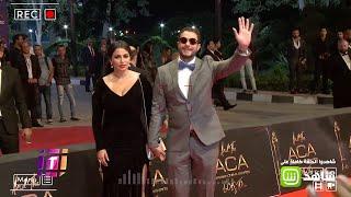كيف ظهر الفيشاوي وعز في حفل توزيع جوائز السينما العربية