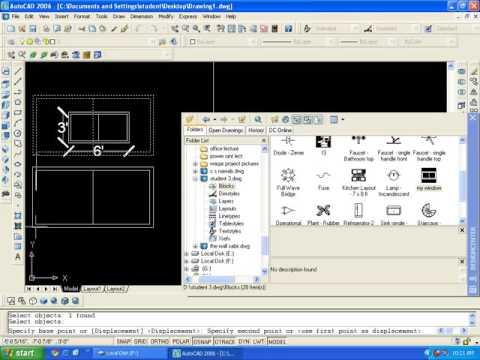 AutoCAD training online :8.3 Block And Design Center Command Urdu.HIndi
