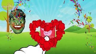 Hulk Wrong Chips Peppa Pig - Learn Colors For Kids - Finger Family