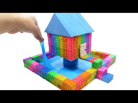 Download Lagu How To Make Kinetic Sand Rainbow One Pillar Pagoda & Learn Colors Creative Fun For Kids MP3