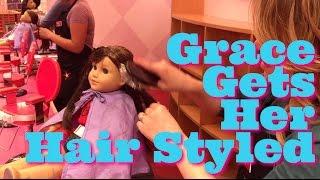 American Girl Doll Grace Goes To AG Hair Salon