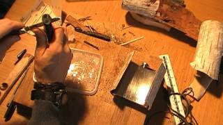 Birch Bark Hip Flask part 1