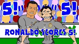 🏼RONALDO SCORES 5!🏼 Espanyol vs Real Madrid 0-6 (Goals Highlights 2015 Funny Cartoon 6-0)