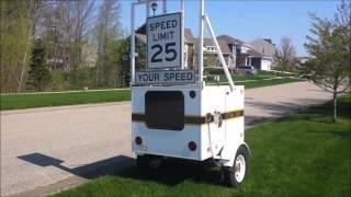 Drones versus Police Speed Trailer