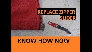 How to Replace a Zipper Slider