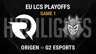 Origen vs G2 Esports Highlights Game 1 - Grand Final EU LCS Spring Playoffs 2016 - OG vs G2 G1