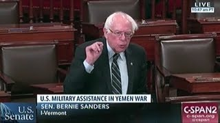 """Bernie Sanders """"The Constitutional Responsibility For Making War Rest With The US Congress!"""""""