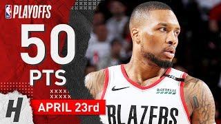 Damian Lillard Full Game 5 Highlights Vs Thunder 2019 NBA Playoffs - 50 Pts, GAME-WINNER!
