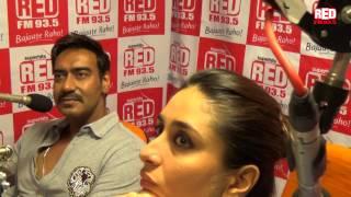 Kareena, Ajay and Rohit at Red FM studio- Part 2