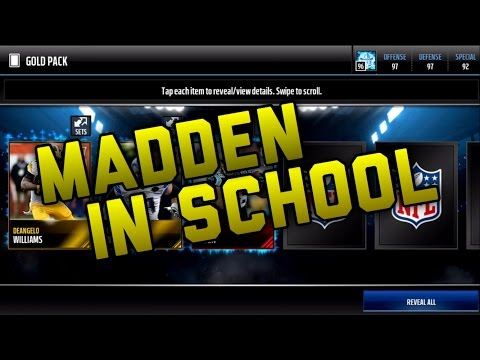 Playing Madden Mobile In School Nice Pull Madden Mobile 17