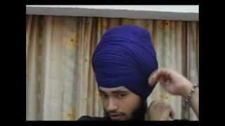 How To Tie Dumalla (Sikh Turban) : Nihang Style