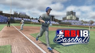 R.B.I. Baseball 18 Gameplay Chicago Cubs vs Los Angeles Dodgers 3 Inning Game Xbox One