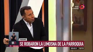 Paraná: se robaron la limosna de la parroquia