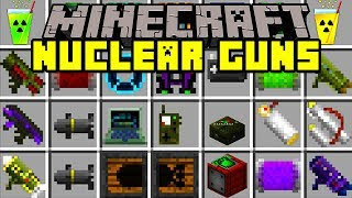Minecraft EXPLOSIVE GUN MOD! | NUKES, NEW GUNS, ROCKET LAUNCHERS, & MORE! | Modded Mini-Game