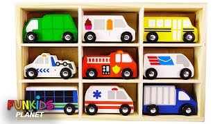 Learn Colors Videos for Kids: Paw Patrol Uses Town Vehicles Ambulance, School Bus, Car Truck Race