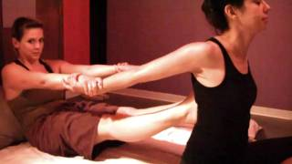 Thai Massage Part 2; Body Techniques & Demonstration on Woman Body Work Therapy