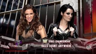 WWE 2K16 It's Paige VS Stephanie Mcmahon Falls Count Anywhere Match For Divas Tittle