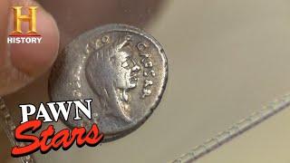 Pawn Stars: Julius Caesar Silver Roman Coin (Season 12)   History