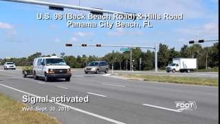 New Traffic Signal activated at U.S. 98 (Back Beach Road) and Hills Road
