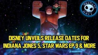 Disney unveils release dates for INDIANA JONES 5, STAR WARS EP 9 & more