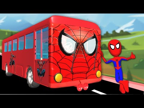 Xxx Mp4 Wheels On The Bus Go Round And Round With Spiderman Nursery Rhymes For Children Songs 3gp Sex