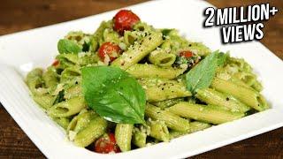 How To Make Pesto Pasta    Penne Pasta With Pesto Sauce    The Bombay Chef - Varun Inamdar