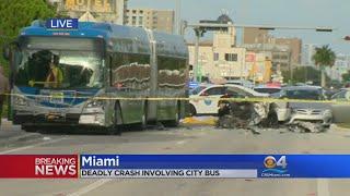 Deadly Crash Involving City Bus In Miami