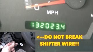 Ford Odometer Blinking, On, Off, On, Off, On, Off..with selector WIRE!! Fix it for $8.99