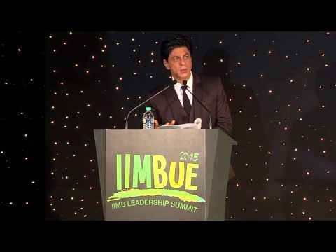 Shah Rukh Khan at IIM BANGALORE 2015