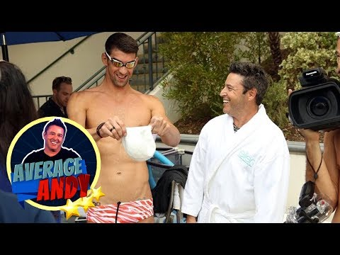 Average Andy with Michael Phelps
