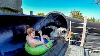 Caneva Aquapark - Black Hole 2 (Lower Floor) | Dark Water Slide Onride POV
