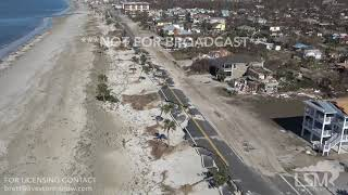 10-12-2018 Mexico Beach to Port St. Joe, Fl Helicopter video of Hurricane Michael Extreme Aftermath