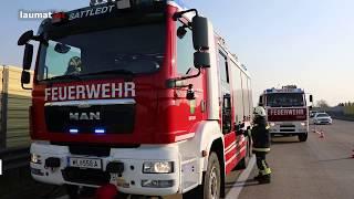 Brand eines Autos auf der Westautobahn bei Sattledt