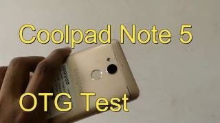 Coolpad Note 5 Otg test