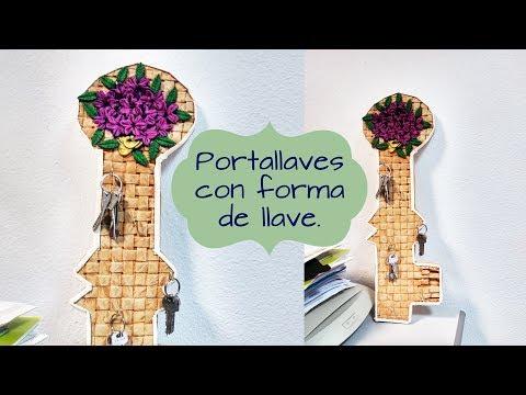 LLAVES PORTALLAVES MANUALIDADES DE RECICLAJE