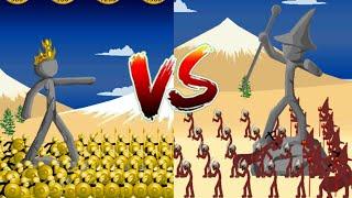 180 Golden Speartons VS Magikill   Insane MODE Campaign   Stick War Legacy