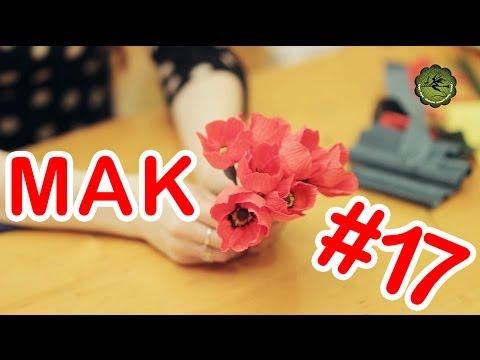 Kwiatki z bibuły 17 mak