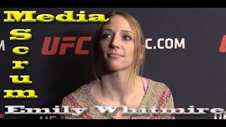Emily Whitmire Media Scrum: Overcoming the Past  (UFC on ESPN 3)