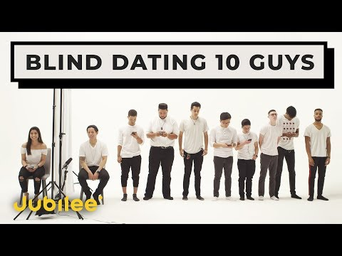 10 vs 1 Speed Dating 10 Guys Without Seeing Them