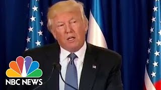 President Donald Trump Emphasizes 'Shared Hope For An Israel At Lasting Peace' | NBC News