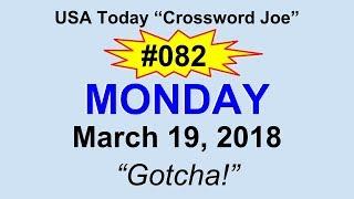 """#082 USA Today Crossword """"Gotcha"""" March 19, 2018"""