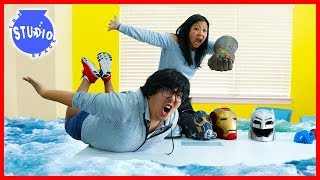 WATER EVERYWHERE!!!! + Ryan Race the Easter Bunny!!!!