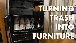TURNING TRASH INTO FURNITURE | Making a Supplies Cabinet