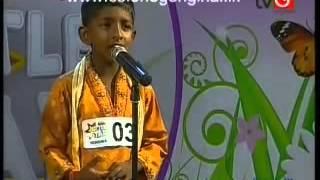 ▶ Thishimi is singing Wana Siwpaun, Derana Little Star Season 6