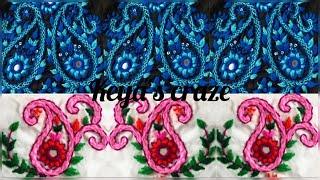 kameez design | neckline design hand embroidery | Keya's craze | hand embroidery-94